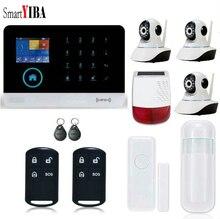 SmartYIBA RFID Wireless Home Security Alarm WIFI APP Control Outdoor Solar Powered Siren Security Camera Door