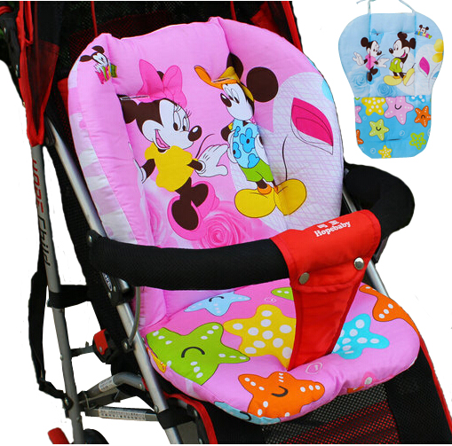Baby Stroller Cotton Pad Car Carriage Seat Cushion Mickey Minnie Mattress  For Stroller Chair Pad Winter Stroller Accessories In Three Wheels Stroller  From ...