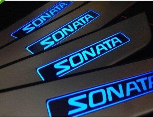 LED Steel Scuff Plate/Door Sill FOR 2011 SONATA 8 2011 2012