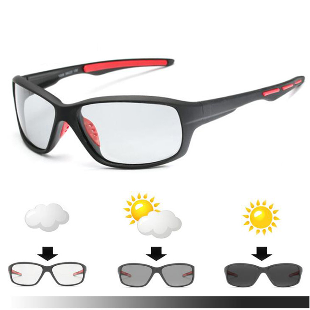 f46b94ecb7 Fishing Polarized Photochromic Sunglasses Men Cycling Hiking Driving  Chameleon Glasses Male Day Night Goggles Lentes Sol