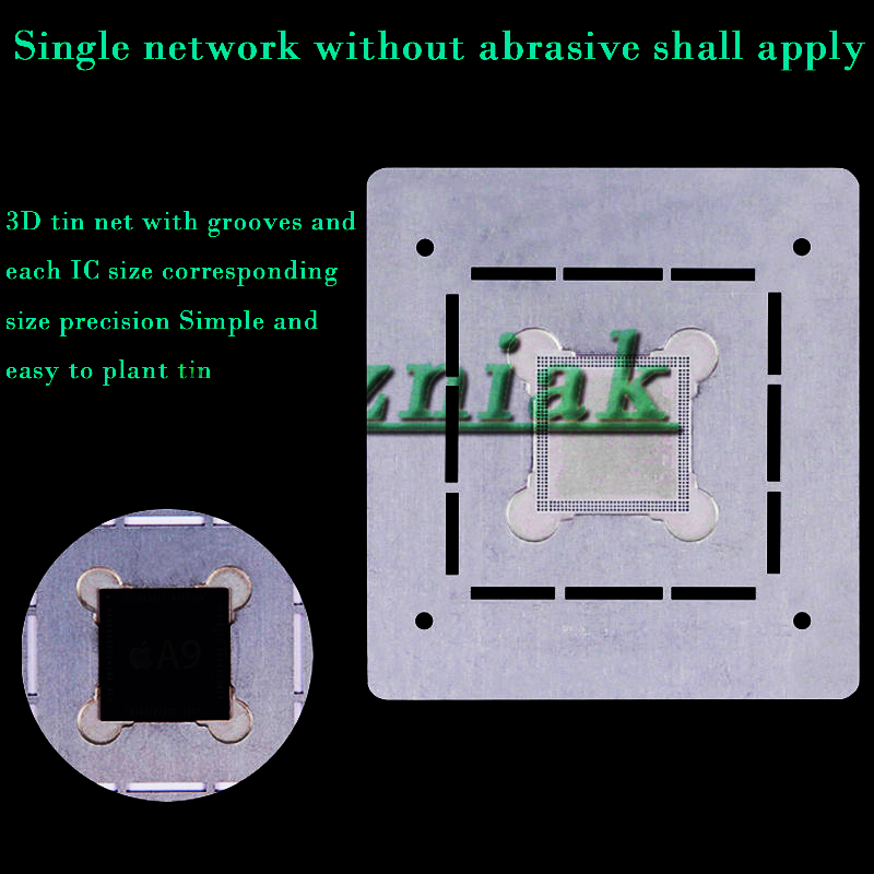 все цены на 3D Square hole net IC Chip BGA Reballing Stencil Kits Set Solder template for iphone A8 A9 A10 онлайн