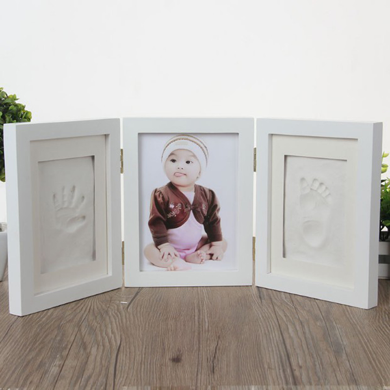 New Cute Photo Frame Newborn Diy Baby Soft Clay Handprint Footprint Exquisite Souvenirs Home Decoration Ornament Keepsake Gift