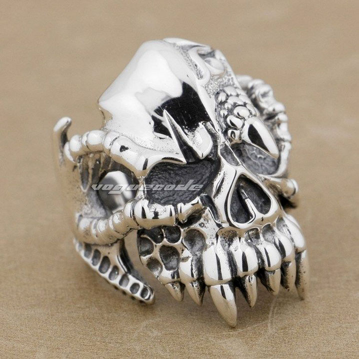 Marlin Open Rings 925 Silver Rings Dark Magic Rings Punk Rings