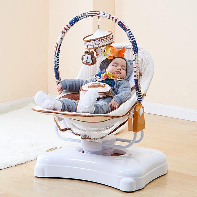 Baby Schommelstoel Aanbieding.Us 290 17 Baby Te Slapen Wieg Schommelstoel Elektrische Wieg Baby Bouncer Schommel Met Power Adapter Intelligente Pasgeboren Bed Bluetooth Versie In