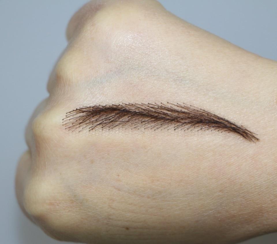 цена на 2016 Direct Selling Hot Sale Long-lasting Easy To Wear Sobrancelha Free Shipping Dark Eyebrow Fake Eyebrows,lady's Eyebrows