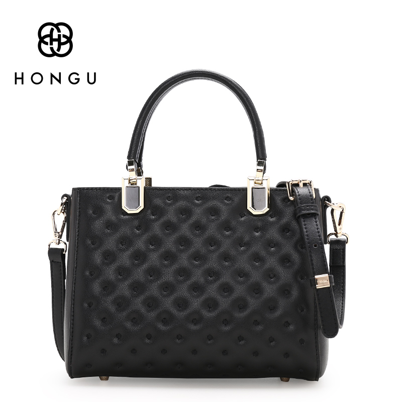 HONGU Fashion Ladies Top-handle Bags Uneven Pattern Handbags Shoulder Crossbody Purse sac a main femme de marque luxe cuir 2017 hongu genuine leather shoulder messenger bags for women pillow shape sac a main femme de marque luxe cuir 2017 black pink online