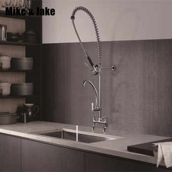 Pull down chrome Commercial kitchen faucet industrial kitchen faucets big kitchen tap hot and cold mixer Commercial sink tap - DISCOUNT ITEM  38% OFF All Category