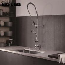 Tirare giù chrome Commerciale rubinetto della cucina industriale rubinetti della cucina grande colpetto della cucina calda e fredda miscelatore Commerciale lavello rubinetto