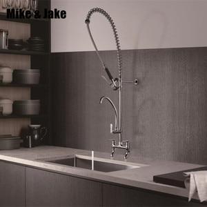 Image 1 - ดึง chrome ก๊อกน้ำห้องครัวเชิงพาณิชย์อุตสาหกรรมก๊อกน้ำห้องครัวใหญ่ก๊อกน้ำร้อน เย็น mixer Commercial sink tap