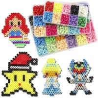 Free shipping 3000pcs/Set 5mm Originality HAMA/PERLER Beads Puzzles Toys for Children Kids Fun DIY Craft 15 Colors