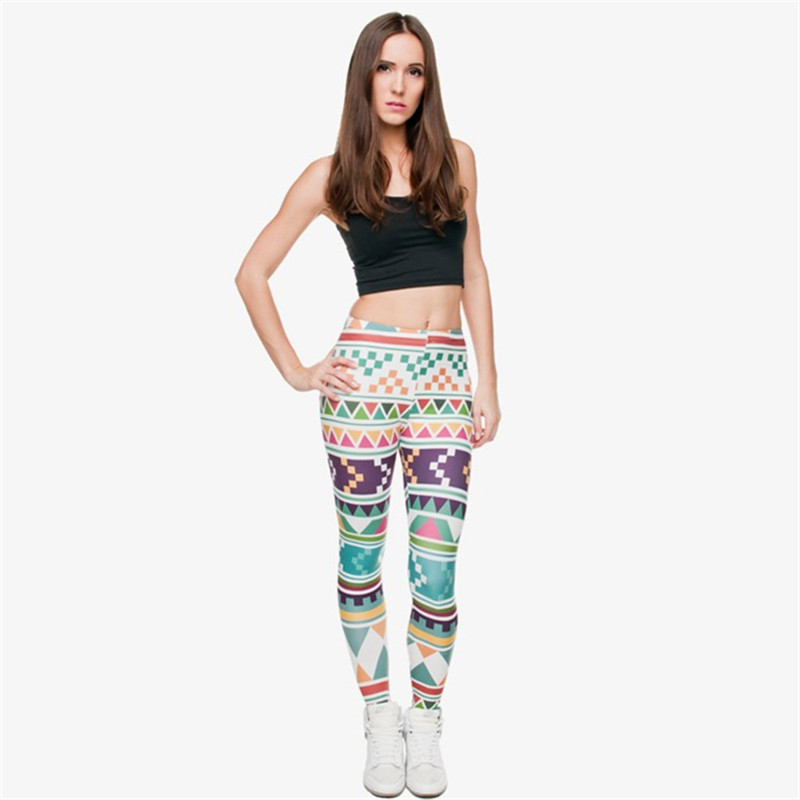 Zohra Brand New Fashion Aztec Printing legins Punk Women's Legging Stretchy Trousers Casual Slim fit Pants Leggings 20