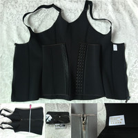 Waist Trainer Neoprene Vest Straps Zipper & Hook Breathable Shapewear Tummy Control XS S M L XL XXL XXXL XXXXL XXXXXL XXXXXXL