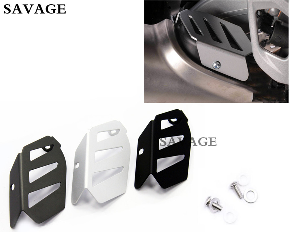 Motorcycle Aluminium Exhaust Flap Cover Guard For BMW R1200 GS LC 2013-UP R1200 GS LC Adv 2014-UP R1200 R LC