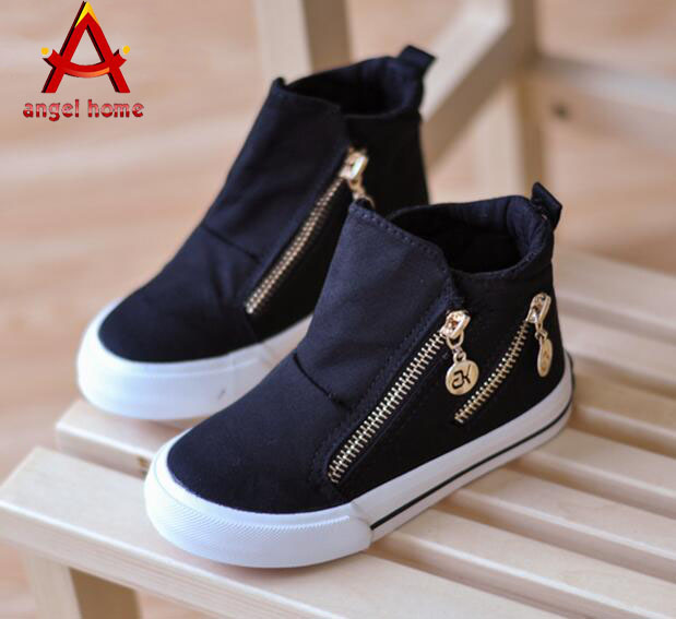 Child Spring Fall shoes 2016 boys double zip fashion shoes ...