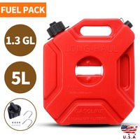 1.3GL 5L Unique Red Fuel Tank Cans Motorcycle Car Spare Plastic Petrol Tanks Cars Oil Container Can with Lock