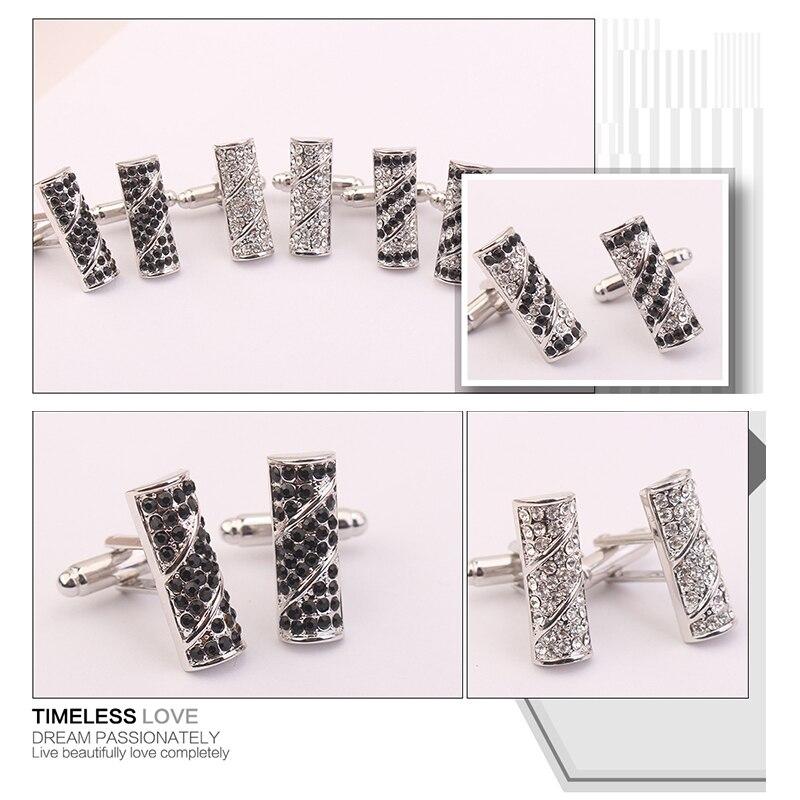 2bc2859121a7 MALANDA Round Crystal From Swarovski Rectangle Cufflink For Men Fashion  Gentleman Shirt Cufflinks Wedding Office Jewelry Gift-in Tie Clips    Cufflinks from ...