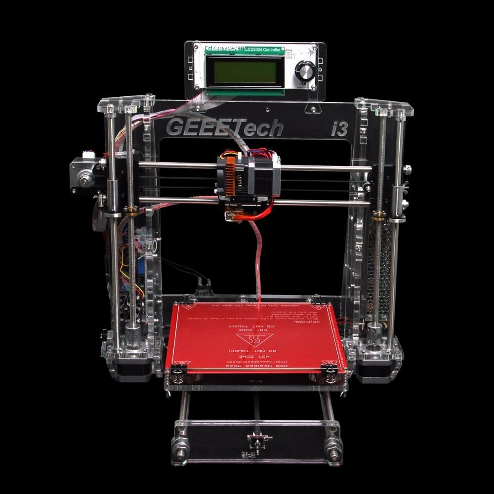 2016 Geeetech 3D imprimante Prusa I3 Pro B acrylique cadre nouvelle Version améliorée haute précision impression bricolage Kits Transparent