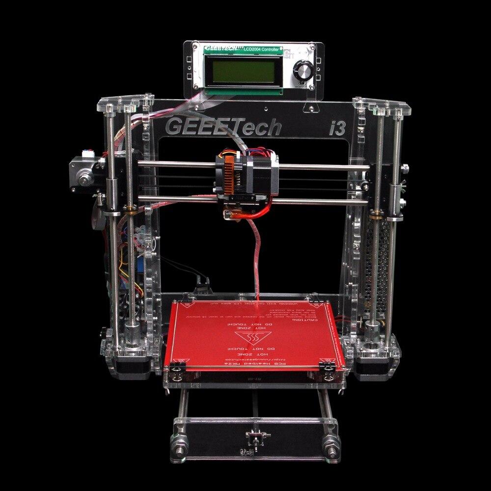 2016 Geeetech 3D Imprimante Prusa I3 Pro B Acrylique Cadre Nouvelle Version Améliorée De Haute Précision Impression DIY Kits Transparent