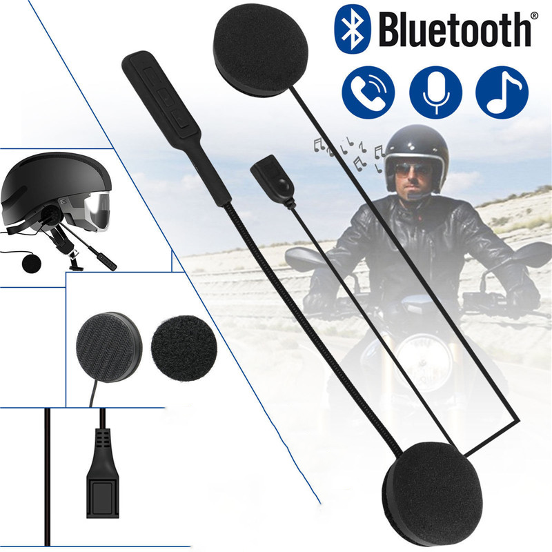 Speaker Earphone Motor Bluetooth-Headset Motorcycle-Helmet Handsfree Music Wireless Dual-Stereo
