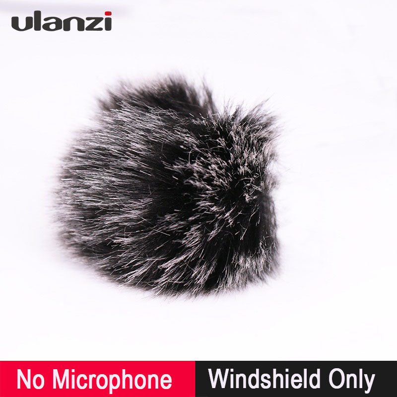 Ulanzi Outdoor Furry Microphone Muff Windshield For Boya BY-M1 BY-WM4 BY-WM8/Rode SmartLav+/Aputure Lavalier Microphone Shield