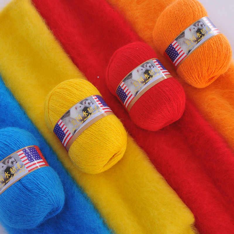 Super Quente de Pelúcia Mink Caxemira Fio Mink Fio para a Mão de Tricô Cachecol Camisola Cardigan de Fios de Fantasia Para Diy Crochê Chapéus luvas