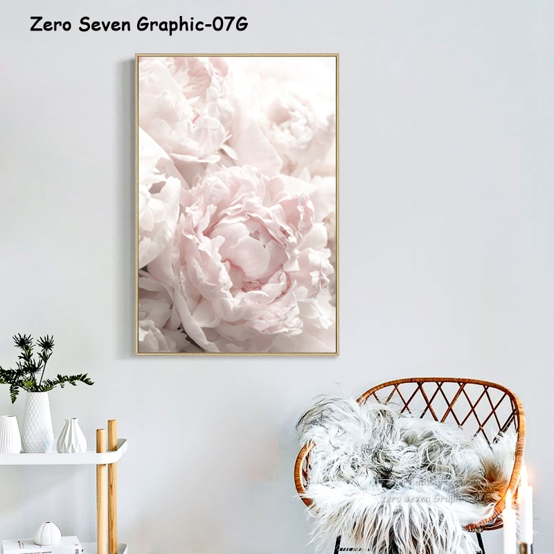Feather Peony Blossom Canvas Painting Posters And Prints Picture Living Room Art Wall Home Decoration