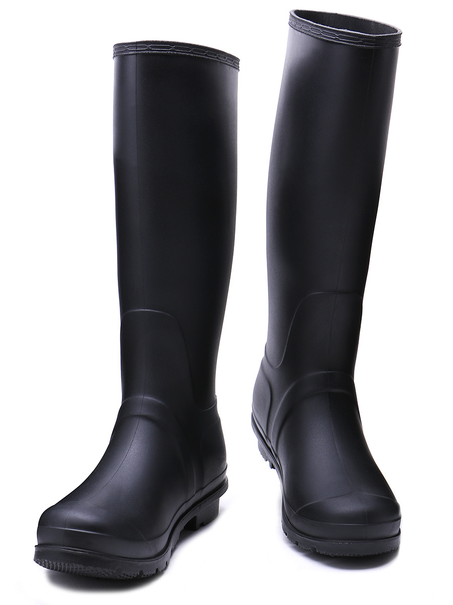 EXCARGO Rubber High Rainboots Woman Comfortable 2019 Spring Autumn Female Fashion Waterproof Water Shoes Tall Boots Rain Boots in Mid Calf Boots from Shoes