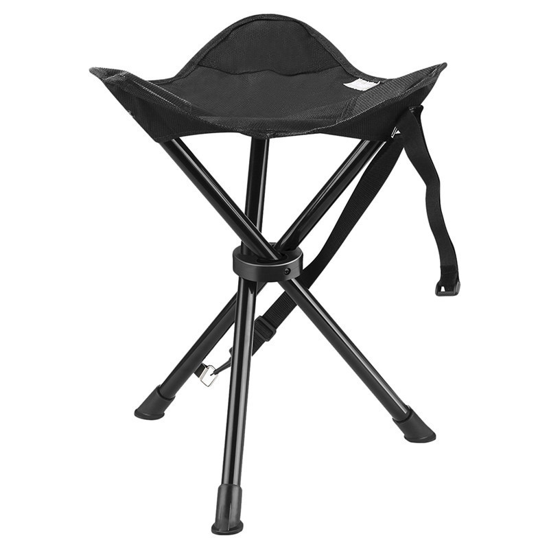 Portable Folding Chair with Carrying Case for Outdoor Camping Walking Hunting Hiking Fishing Travel 200 lbs Capacity outdoor traveling camping tripod folding stool chair foldable fishing chairs portable fishing mate fold metal chair