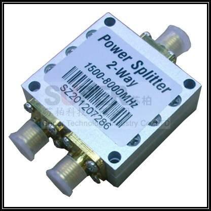 Цена за Телеком использовать 2 Способа SMA Разветвитель Питания SMA 8 ГГц делитель мощности 1500 мГц ~ 8000 МГц женский делитель, сигнал splitter для связи