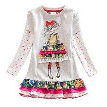VIKITA Girls Dress Long Sleeve Kids Flower Dresses Children Unicorn Vestidos 2018 Girls Dresses Autumn Kids Dress For Girl (China)