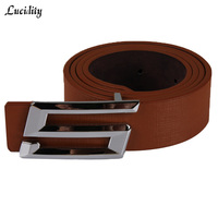 New Style 2015 High Quality Mens Belts PU Alloy Letter Smooth Buckle Mens Formal Belts Classic
