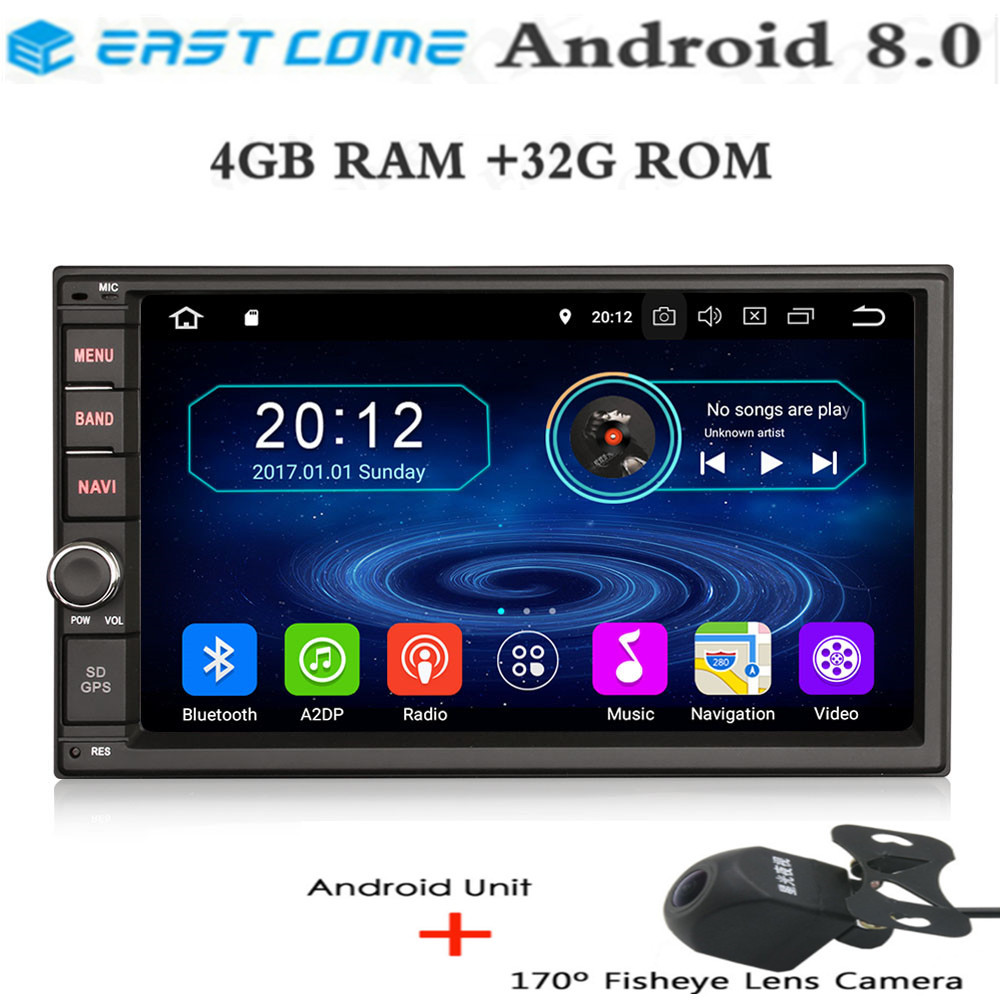 IPS 4GB RAM Octa Core <font><b>Android</b></font> <font><b>8</b></font>..0 Universal Multimidia Double 2din <font><b>2</b></font> <font><b>din</b></font> Car Radio DVD Player GPS Navigation forToyota Nissan image