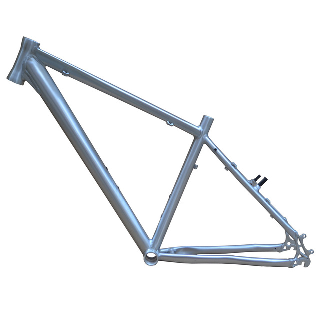 26 inch *15/16/17 inch Bike Frame Silver Mountain Bike Frame MTB ...