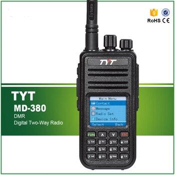 100% Original Digital DMR Radio TYT UHF MD-380 Walkie Talkie 2000MAH Two Way Radio+Programming Cable and Software