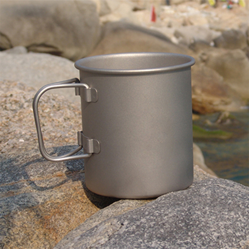 Keith 350ml Coffee Mugs Titanium Camping Cup Drinkware Single Health Non-toxic No Odor No Scale Ultralight 56g KS811