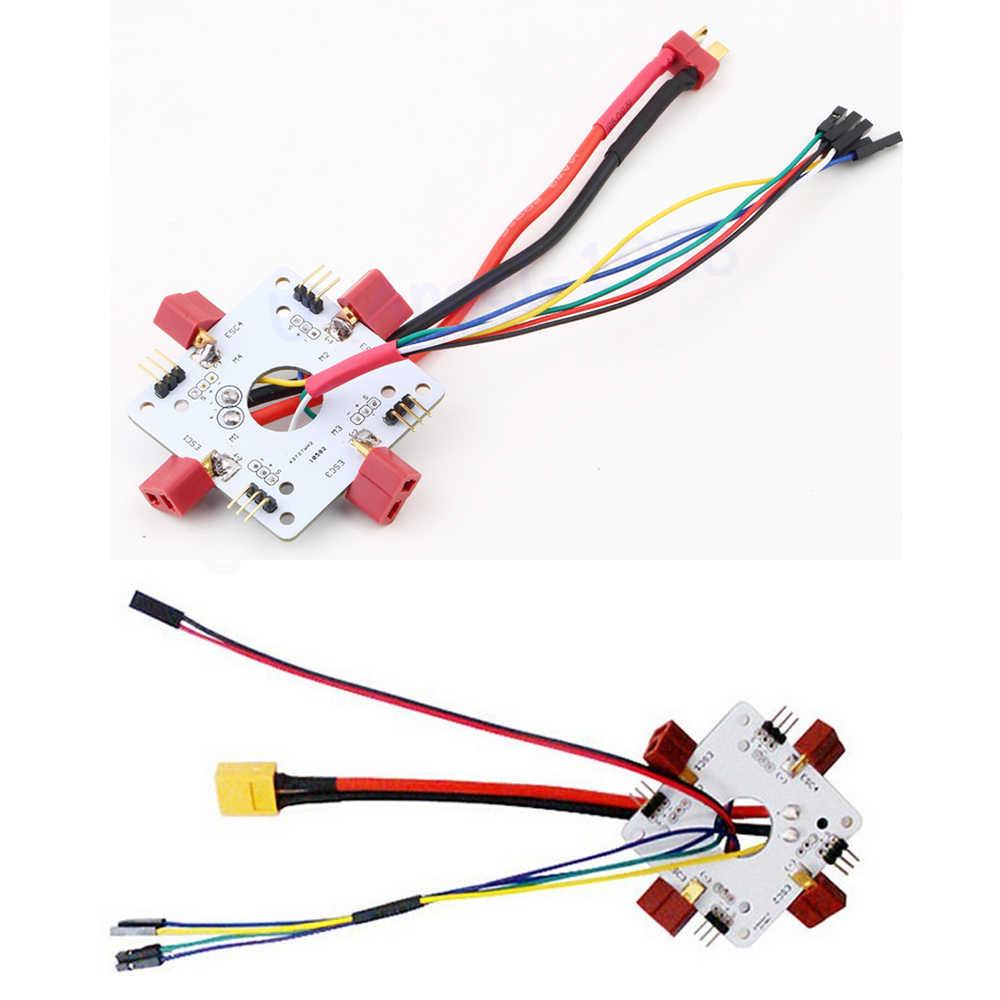 1 шт. APM PX4 Quadcopter T-Plug/XT60 распределительная плата ESC Соединительная плата