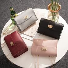 Female shoulder diagonal chain small square bag new fashion Korean sweet lady