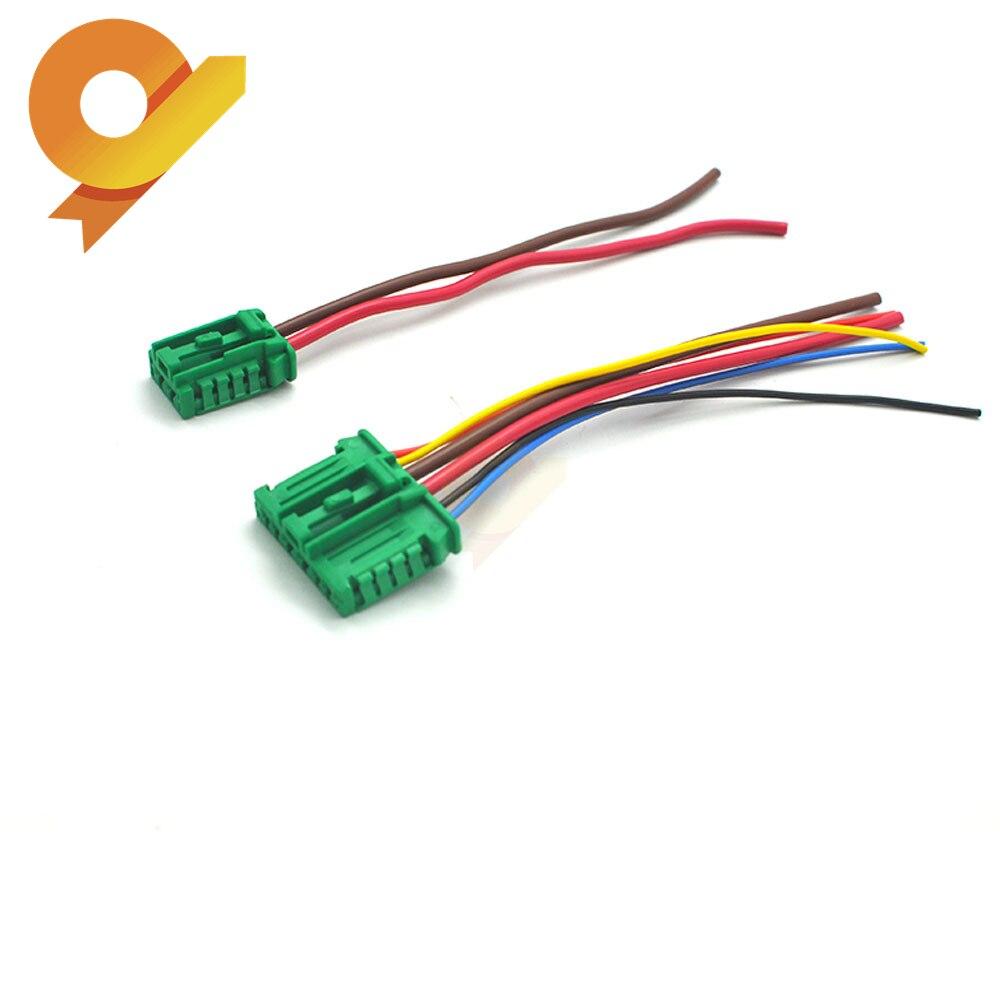 Heater blower Motor Resistor Plugue Pigtail Conector Para Peugeot Citroen Renault Nissan 27150-ED70A 7701048390 7701207718 6441L2