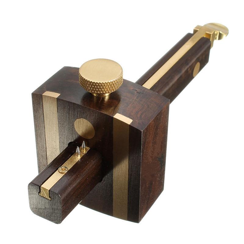 High Quality Cutting Gauge Mark Scratch Liner UK Indonesia Ebony + Copper Wear Carpenter Woodworking Tools 8 Screws