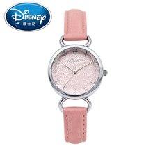 Disney Kids Watch Children Watch Fashion Simple Wristwatches Girls Mickey Mouse Gift Leather clock