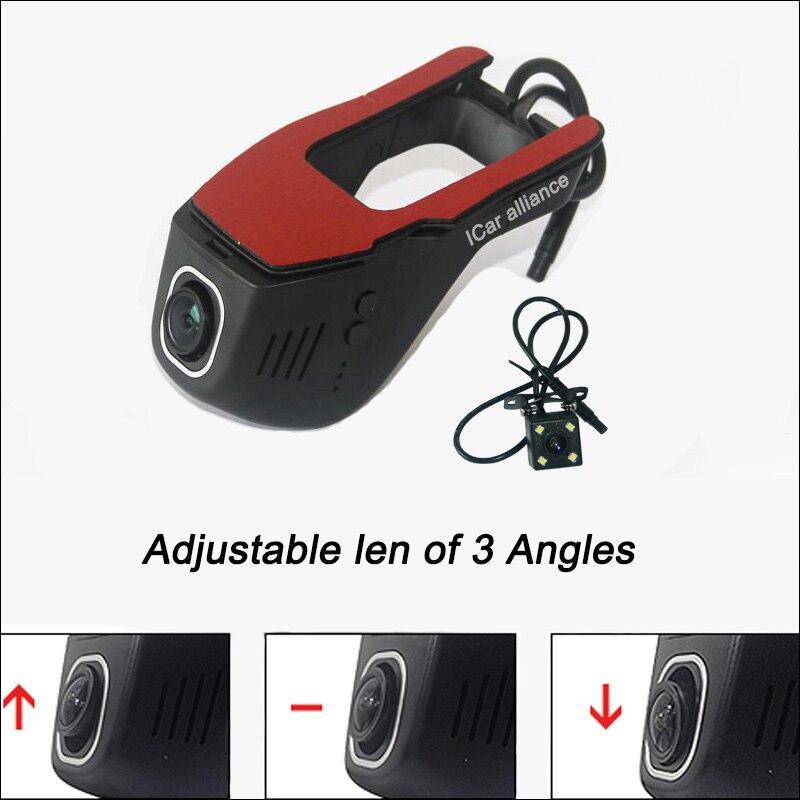 For nissan tiida car wifi dvr car driving video recorder g-sensor dual camera wdr car parking camera