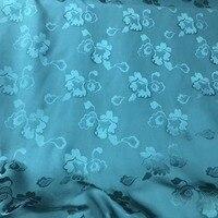 PRINT SILK JACQUARD FABRIC Width 140cm 100% Natural Silk Fabric flowers materiel fabric dye Semi Transparent Free Shipping