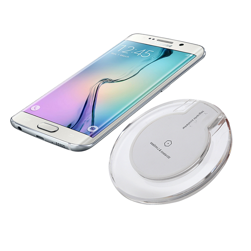 RACAHOO Transparent Wireless Fast Charging Battery Charger For power bank caseFor Samsung Galaxy S8 Plus S7 S6 Edge Note 5 стоимость