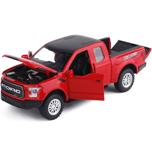 Image 5 - 1:32 F150 Pick up Truck Alloy Car Model Metal Diecasts Toy Vehicles Pull Back Flashing Sound For Kids Toy Free Shipping