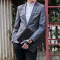 Super 2016 Blazer Men wedding Dress Fashion Brand Solid Color Costume Homme Casual Groom Men Blazer Slim Fit suit jacket