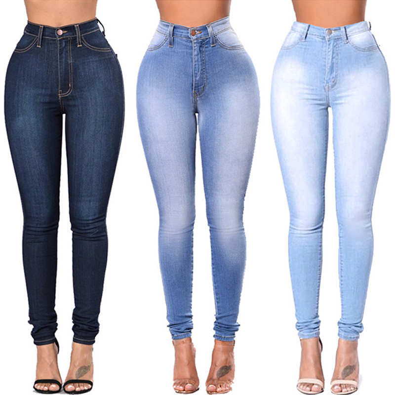 Jeggings   Jeans   For Women Black Blue   Jeans   High Waist   Jeans   Elastic Stretch Ladies   Jeans   Female Washed Denim Skinny Pencil Pants