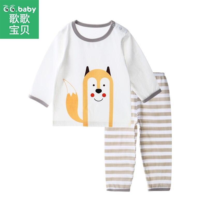 Los pijamas de los niños de bebé niños pijamas conjunto niña conjuntos de  ropa de dormir chico trajes de ropa de conejo camisa pantalones conjunto  chico s ... 3798a11a73d2
