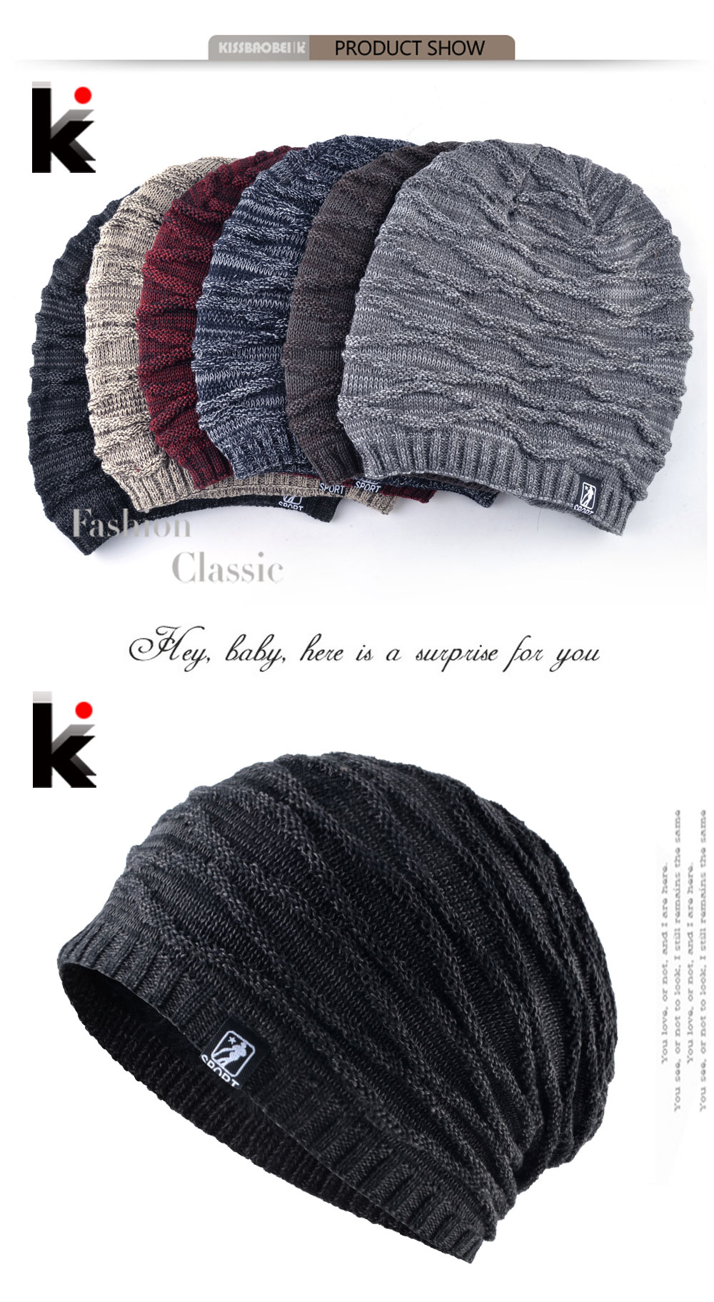2b0b56eef2a Men s Winter Hat 2018 Fashion Knitted Striped Hats Warm Bonnet Hiver  Outdoor Thick Ski Skullies Beanies Men Knitting Gorras Cap