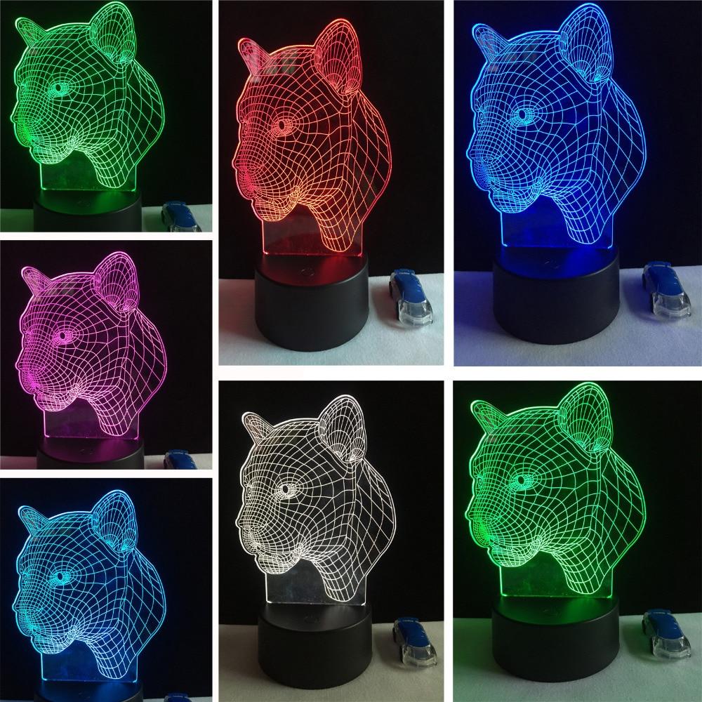 ขายด่วนอินเทรนด์ที่มีสีสัน LED ไฟในคืนหัวเสือดาวเซ็นเซอร์ไฟใหม่ประหยัดพลังงานภาพโคมไฟสร้างสรรค์เพื่อนและเด็กของขวัญ