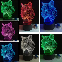 Hot Sale Trendy Colorful LED Night Lights Leopard Head Sensor Lights NEW energy saving Visual Creative Lamp Friend & Child Gifts